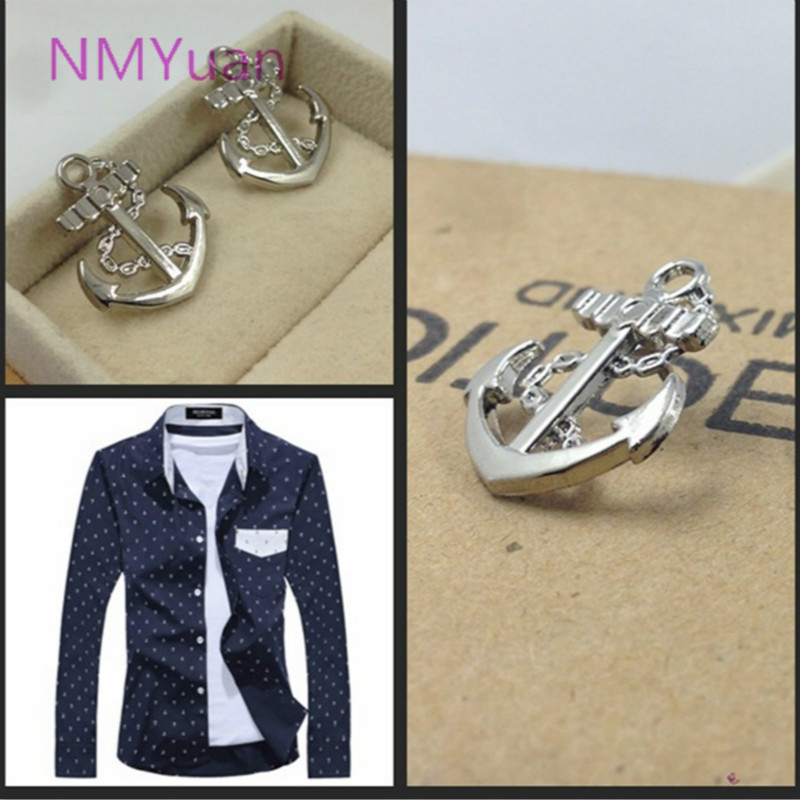 Huapengyang metal collar pin men's suits small brooch