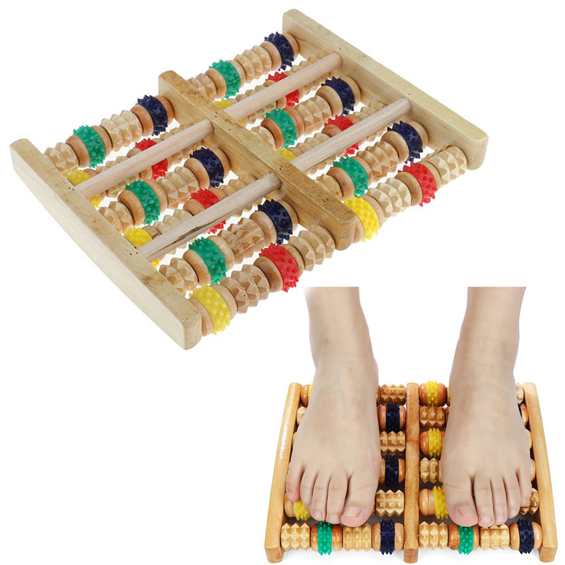 Wooden Foot Massager Roller Reflexology for Stress Fitness Health Care Feet Massager Colorful Massage Roller Pain ReliefWooden Foot Massager Roller Reflexology for Stress Fitness Health Care Feet Massager Colorful Massage Roller Pain Relief