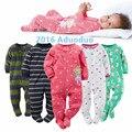 2016 nueva ropa del bebé, suave forro polar niños uno junta las piezas Del Mono Del Pijama recién nacido de la muchacha niños ropa de bebé trajes de bebes