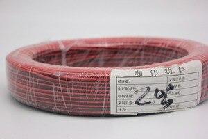 Image 1 - 100 m/grup, 2pin Kırmızı Siyah kablo, Kalaylı bakır 20AWG 22AWG, PVC yalıtımlı tel, Elektronik kablo, LED kablo, ücretsiz kargo