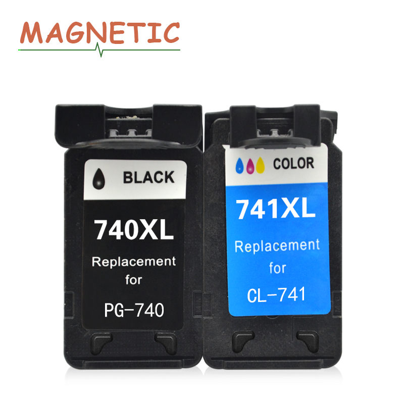 цена 2x PG740 CL741 compatible ink cartridge for canon PG 740 CL 741 for Canon Pixma MX517 MX437 MX377 MG3170 MG2170 printer