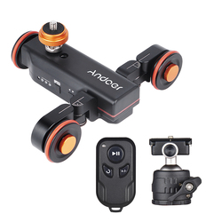 Andoer L4 PRO with Wireless Remote Control Motorized Camera Video Dolly photography for Canon/Nikon/Sony DSLR Camera Smartphone