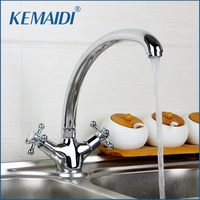 RU Free Shipping Polished Chrome Brass Kitchen Faucet Single Handle Hot And Cold Water Mixer Tap