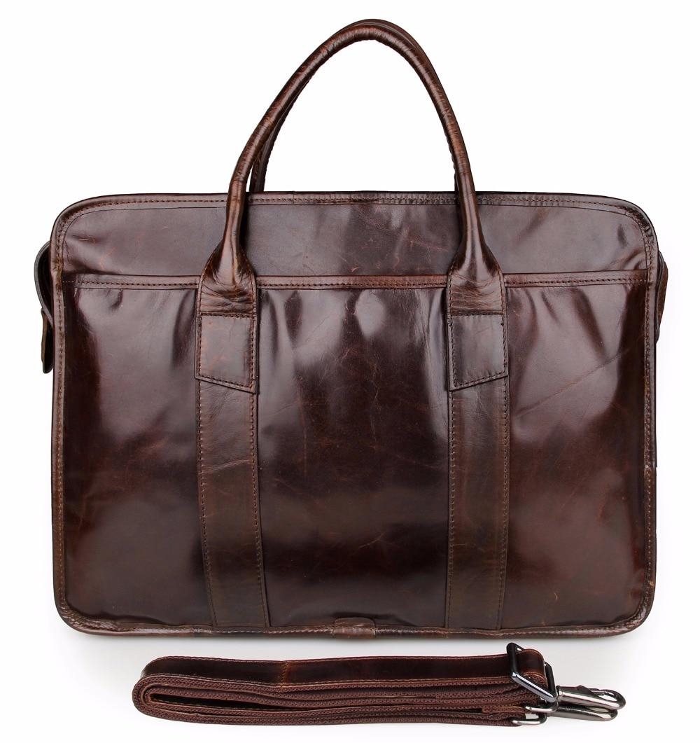 Augus Durable And Convenient Business Laptop Bag Big Capacity Messenger Bag Genuine Cow Leather Travel Bag 7321A/7321C