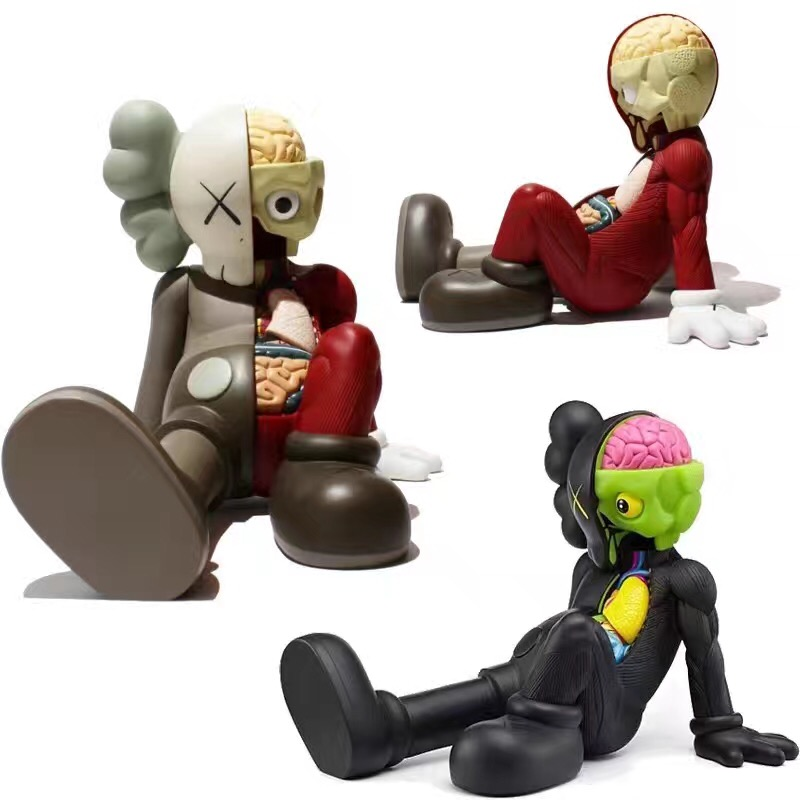 Medicom Toy Originalfake KAWS Dissected Companion PVC Action Figure Collectible Model Toy with box S157 2 colour outer space trophy electroplating kaws bape milo kabinett ver medicom toy pvc action figure collection model toy g690