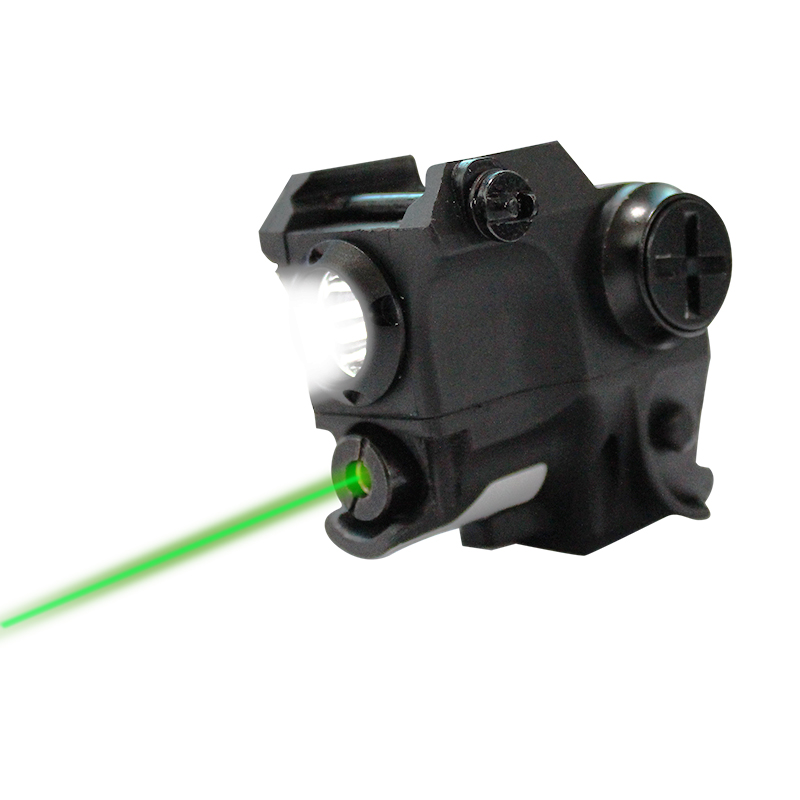 Laserspeed Compact Green Pistol Laser Light Combo Home Defense Weapons Tactical Laser and Flashlight Aiming Device image