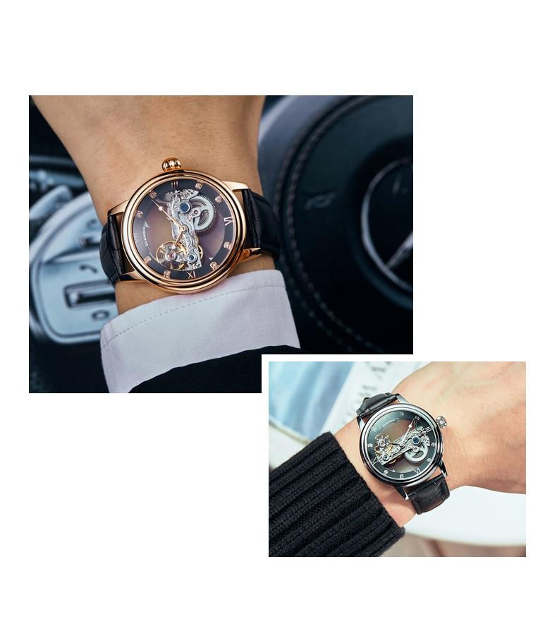 GUANQIN 2019 men watches top brand luxury Automatic Luminous clock men Tourbillon waterproof gold Mechanical relogio masculino