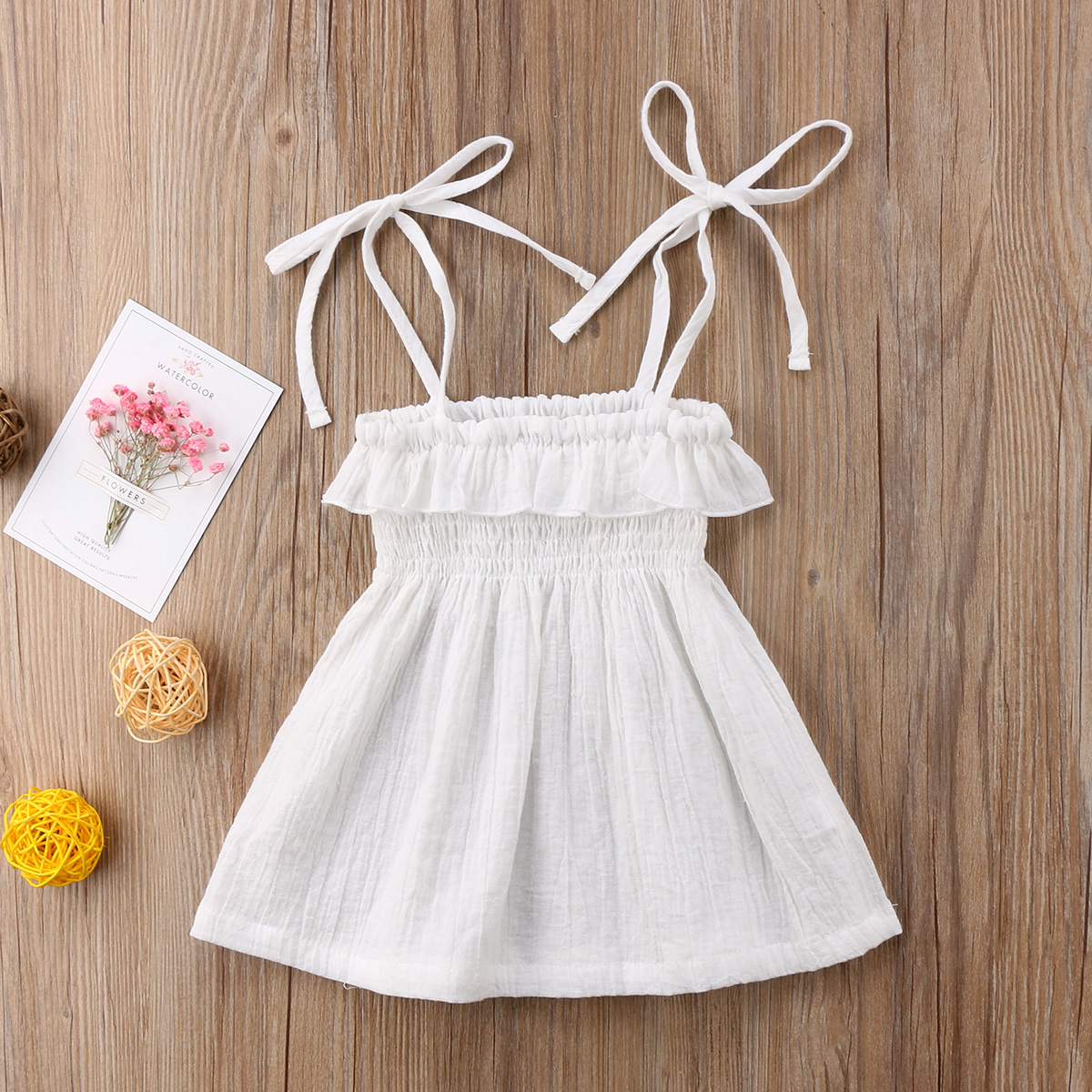 Infant Toddler Kids Baby Girls Halter Tutu Dress Party Beach Pageant Dresses