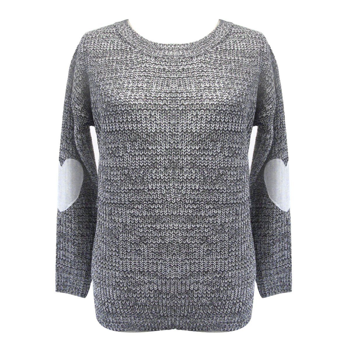 Winter Fashion Brand Love Hearts Patch Knitwear Pullover Ladies ...