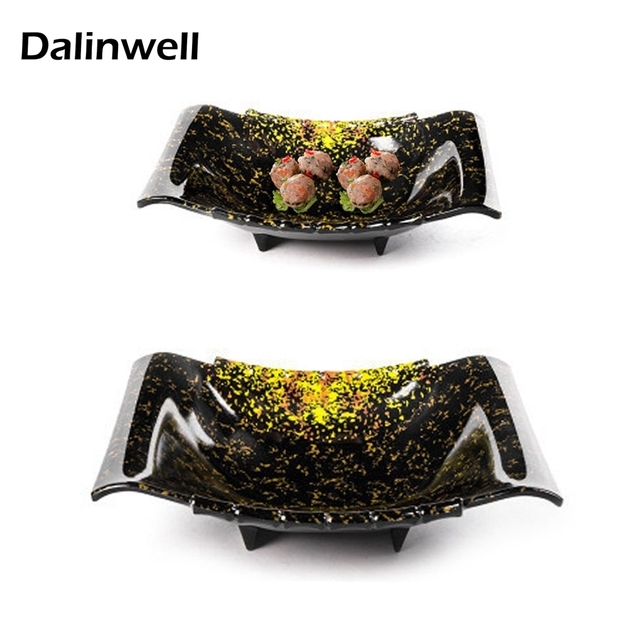New Cheap Personalized Black Yellow-diamond Color Melamine Sushi Salad Serving Plate Dinner Dish Sets  sc 1 st  AliExpress.com & New Cheap Personalized Black Yellow diamond Color Melamine Sushi ...