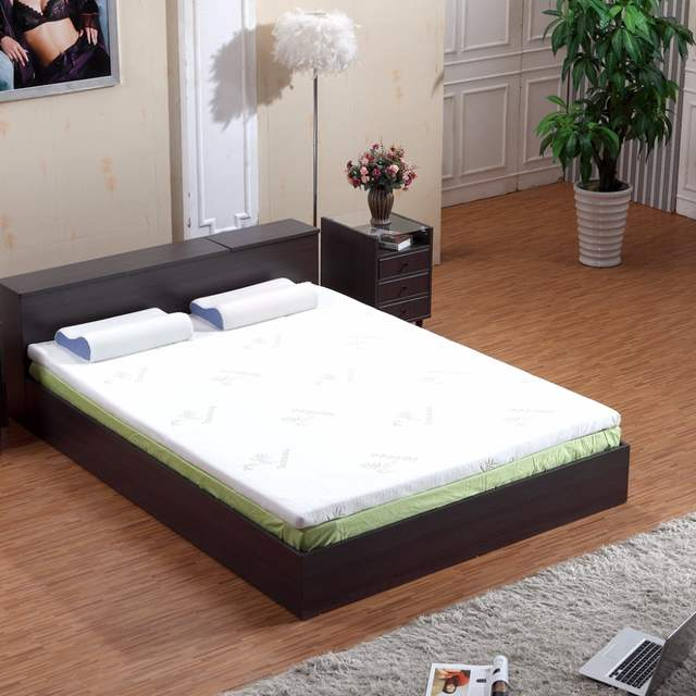 Cuscino In Memory Foam Certificato Oeko Tex.Langria 3 Inch Memory Foam Mattress Topper With Removable Zippered Bamboo Cover Twin Full Queen Gel Infused Mattress Optional