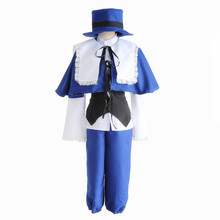 Rozen Maiden Anime Souseiseki Cosplay Costume (shirt+vest+cappa+shorts+hat) suit