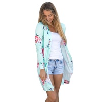 Newest Blouse Autumn Floral Printed Women S Windbreaker Long Sleeved Cardigan Women Casual Open Stitch Long