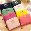 2017 Fashion Wallet Women Lady Short Wallets Women Purse Female Candy Color Women Wallet  PU Leather Card Holder Day Clutch H28