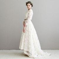 2016 Vintage Ivory Lace Long Skirt Sweep Train Autumn Boho Bridal Skirts Custom Made Garden Wedding Party Skirts Custom Made