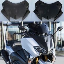 Para-brisas para motocicletas yamaha tmax 530 17 18 tmax530 2017 2018, tela de fumaça, preto, acrílico e transparente