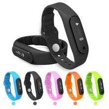 2016 Сенсорный экран Смарт Группа Браслет E06 Bluetooth Smart Браслет часы фитнес-Носимых трекер ремешок для Xiaomi Android 4.4