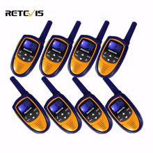 4pair Mini Walkie Talkie Kids Radio 8CH 0.5W Retevis RT31 LCD Display Ham Portable Radio Set Children 2 Way Radio Toy Walk Talk