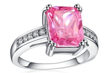 YKD308 S925 bague en argent Sterling dame anneau zircon bague de fiançailles de mariage cadeau de fête d'anniversaire