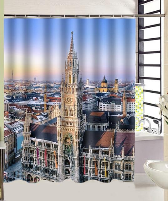 Duitsland frauenkirche stad architectuur huizen print bad gordijn ...