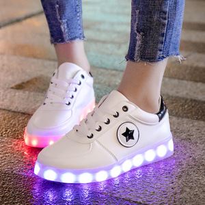 Image 5 - 7ipupas 25 44 Luminous sneaker Kid led shoes do with Lights Up 2018 lighted shoes Boy Girl tenis Led simulation Glowing Sneakers