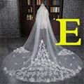 Amazing 3 Meter Cathedral Wedding Veils 300*300cm Long Applique Edge Bridal Veil Wedding Accessories Bride Mantilla Wedding Veil
