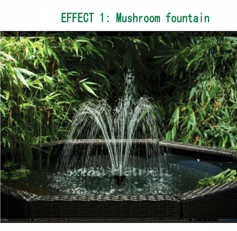 SOBO Koi Pond Filter Fountain Pump Pool Fountain Filter All in one Machine Fountain+LED Rockery GardeningLandscaping 40W 300L/H