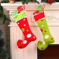 2017 New 4Pcs Christmas Ornament Christmas Gift Fabric Art Boots Pendant Christmas Arts And Crafts Christmas