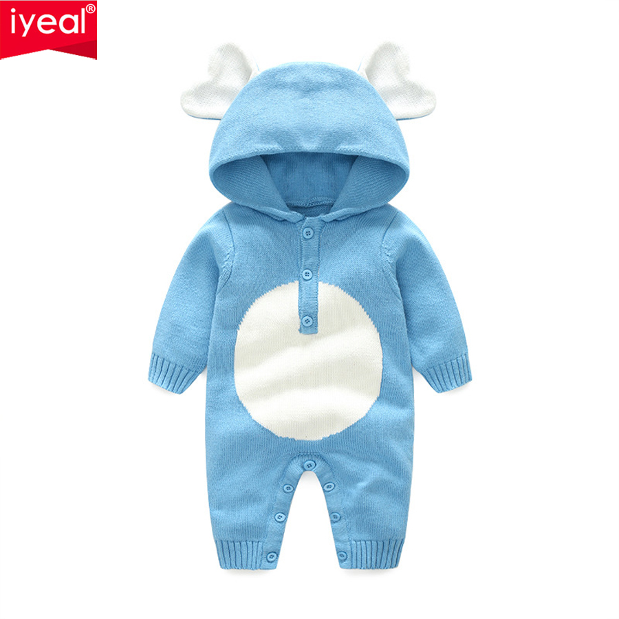 IYEAL New Arrival 2018 Spring Autumn Cute Cartoon Hooded Baby Rompers For Boys Girls Clothes Newborn Clothing Infant Costume cotton baby rompers set newborn clothes baby clothing boys girls cartoon jumpsuits long sleeve overalls coveralls autumn winter