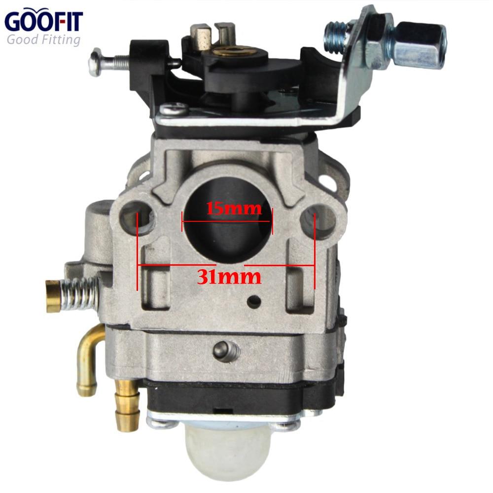 GOOFIT 15mm karburaator Karburaatori krundipirn Carb 49cc 2-taktiline - Mootorrataste tarvikud ja osad - Foto 1