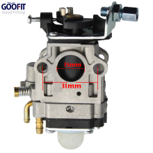 GOOFIT 15mm Carburetor Carb for 49cc 2 Stroke Pocket Bike Engines N090-048
