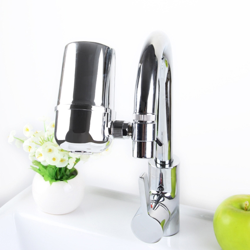 Home Faucet Water Filter Domestic Use Kitchen Health Tap Water Purifier Silver