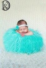 Size(150*100cm)High Quality Faux Fur Blanket Basket Stuffer Mongolia Fur Photography Props Newborn Photography props