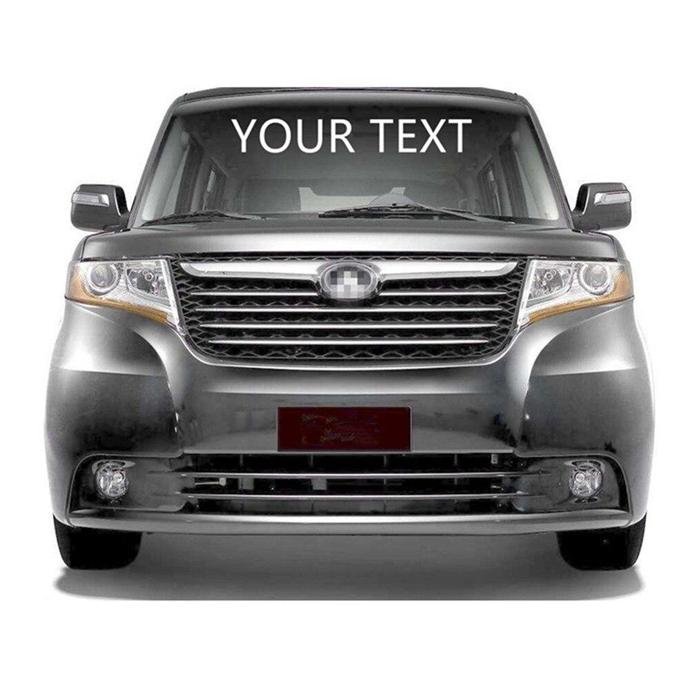 Seu Texto Personalizado Atacado Dianteira Do Carro Traseiro Windshield Etiqueta Decal Corpo Styling decoração Frete grátis padrão