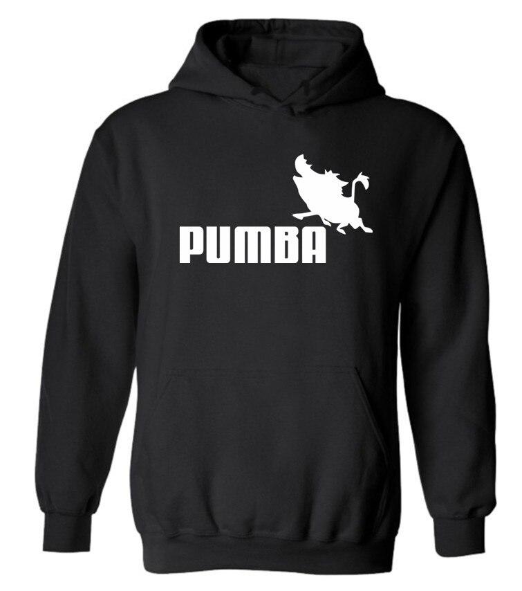 2017 Пумба черный с капюшоном Мужские толстовки и спортивные свитера с Толстовки Для мужчин бренд в мужские толстовки и спортивные свитера