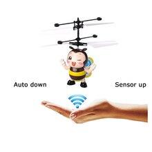 עף חרקים דבורת RC מסוקי צעצועים לילדים חושי מרחוק Helikopter שליטת Led אור רובוט Kawaii אנטי סטרס מתנה