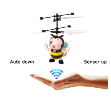 Flying Insect Bee RC Helicopters Toys for children Sensory Remote Control Helikopter Led Light Robot Kawaii anti-stress Gift