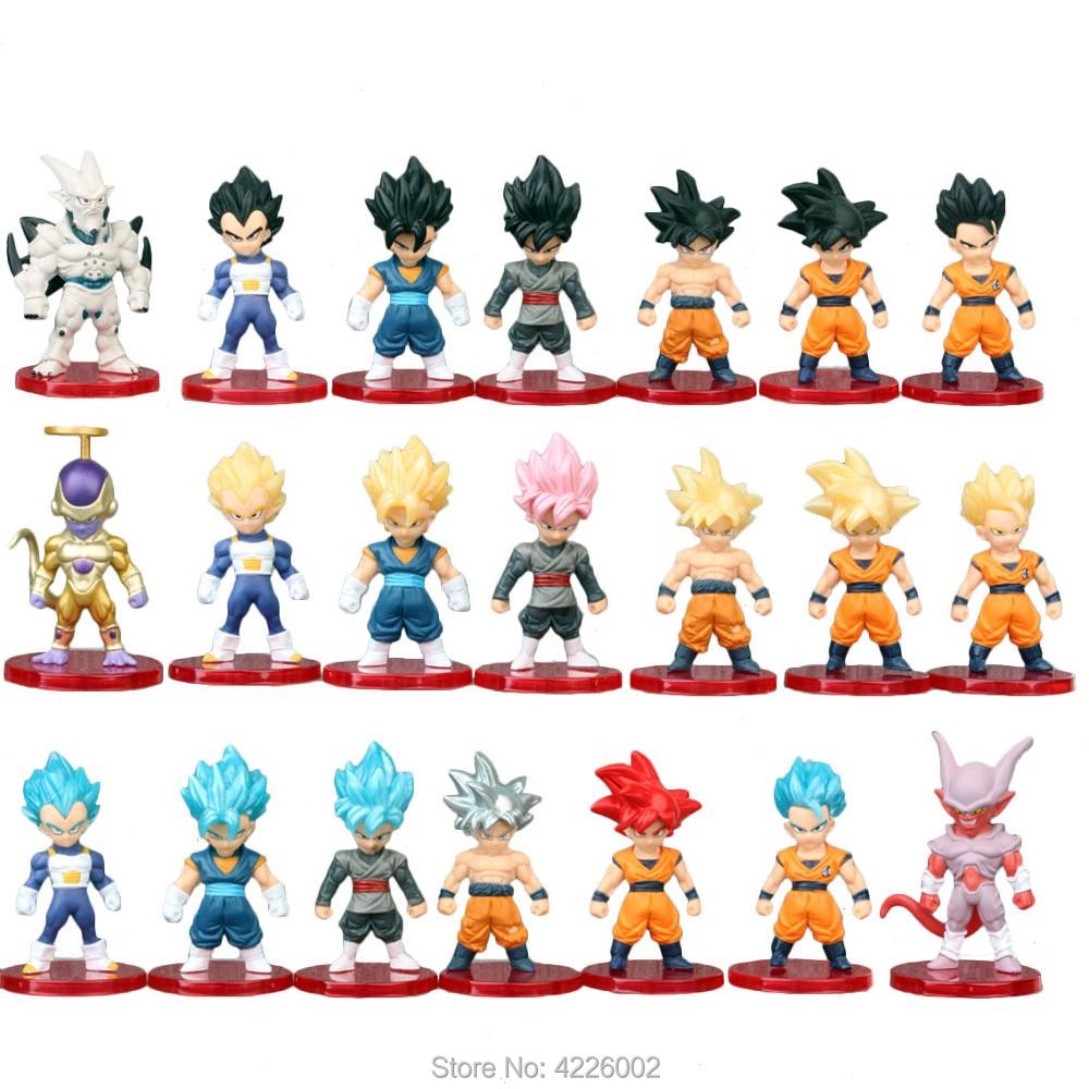 Dragon Ball Z Super Saiya 3 God SS Son Goku Vegeta Figures Rose Zamas Golden Frieza Super Star Dragon Resurrection F Model 21pcs in Action Toy Figures from Toys Hobbies