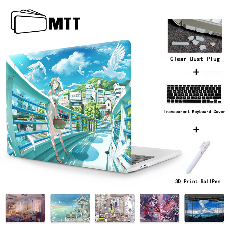 Clear Crystal Case For Apple Macbook Pro 13 15 A1706/A1708/A1707 Anime Sky Laptop Bag Cover For Macbook Air 11.6 Pro 13.3 A1278