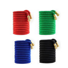 High Quality 25FT-100FT Expandable Garden Hose Magical Telescopic Hose High Pressure Car Wash Hose Seamless Ribbon Watering Pipe