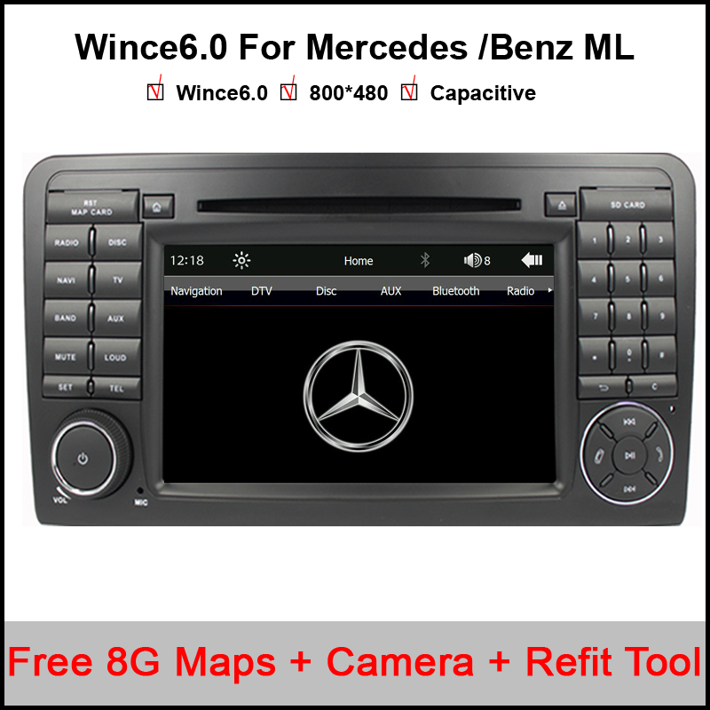 Capacitive car dvd player for mercedes benz ml w164 2005 for Mercedes benz truck radio code