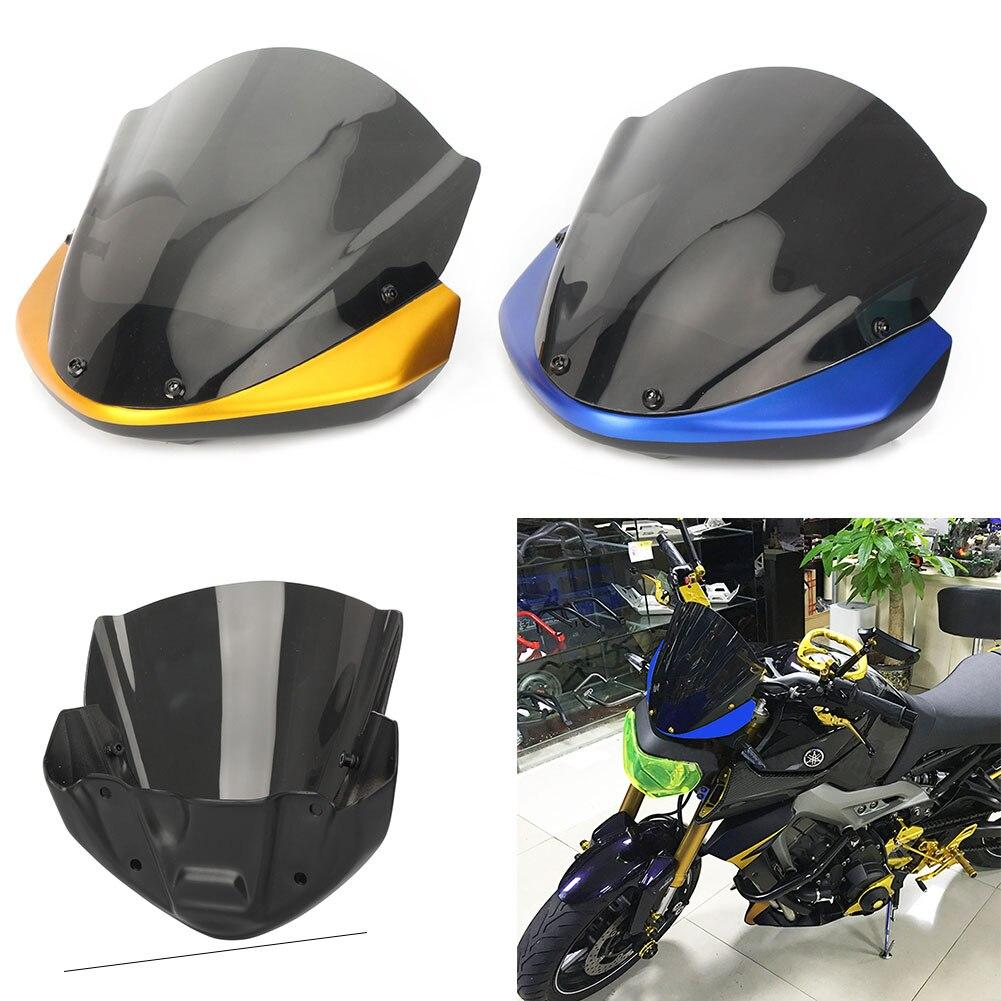 Pour Yamaha moto pare-brise court pare-brise avec support FZ09 MT09 FZ-09 MT-09 2014 2015 2016
