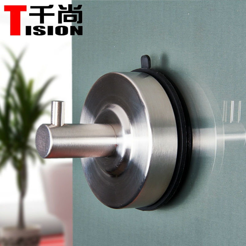 tision stainless steel vacuum strong suction cup hook for glass metal wall hanger bathroom clothes kitchen towel rack