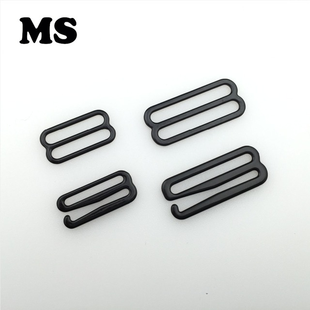 6f826a84e72b3 Free shipping 50 sets lot 20mm 30mm nylon coated metal bra hooks   slider  bra DIY Accessories
