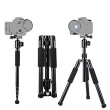 купить High quality Aluminum Alloy Professional Tripod with monopod+360 rotation horizontal Ball head for Cameras DSLR Canon Sony Nikon по цене 4034.23 рублей