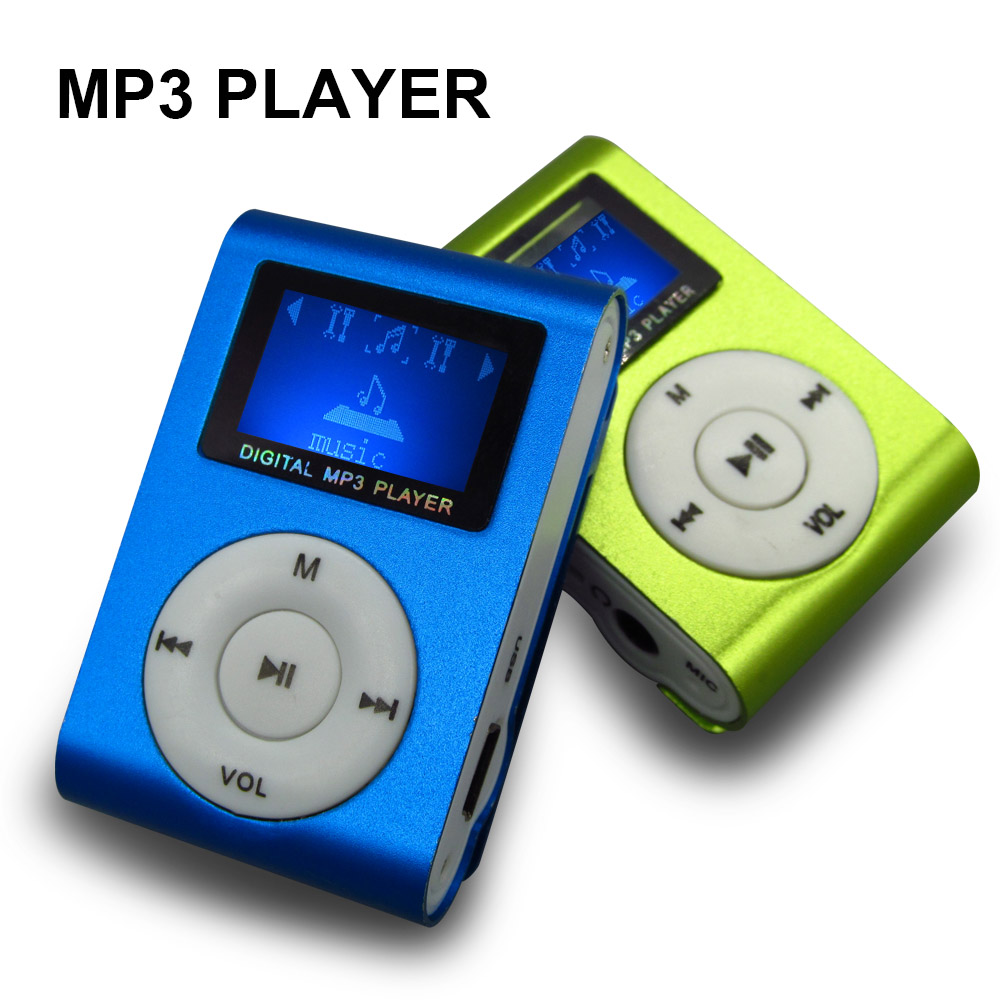 Sport Mp3 Music Player With Lcd Screen Metal Clip