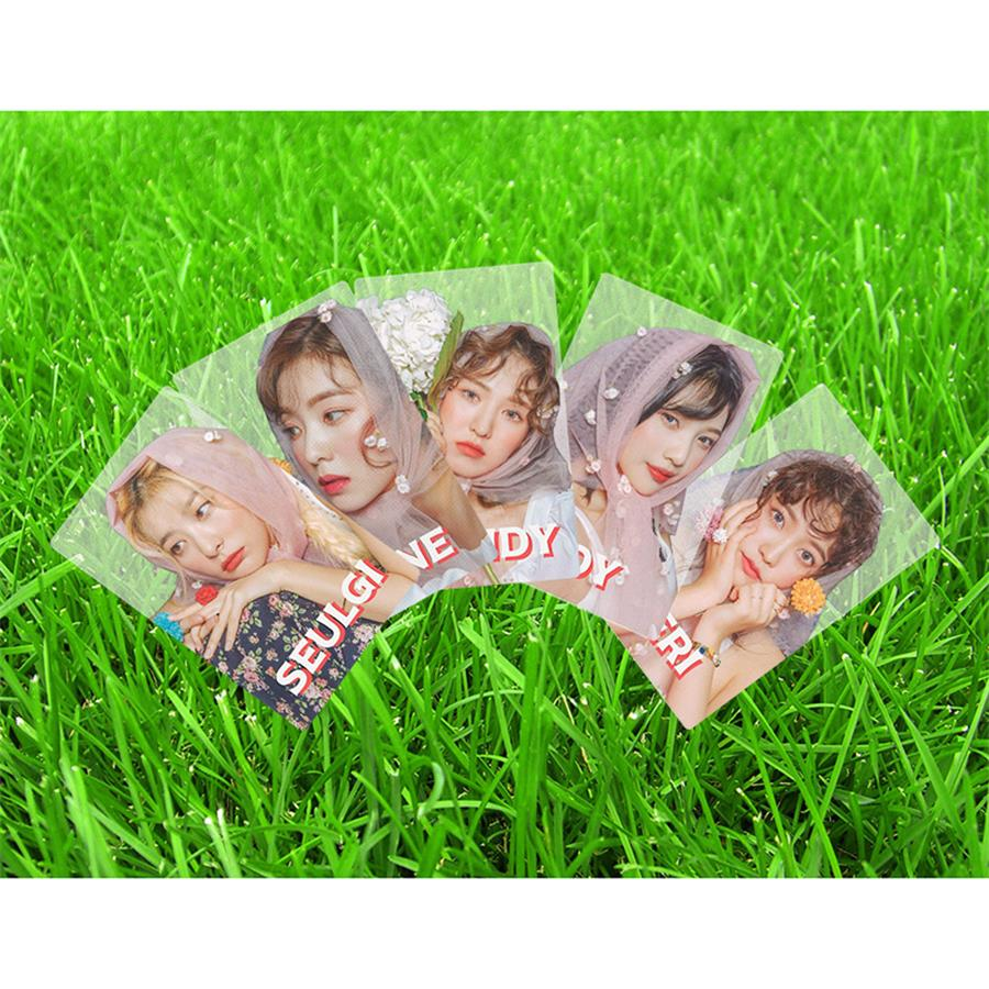 Kpop Red Velvet PVC Clear Photo Card The ReVe Festival Day Photocard Collective Cards 5pcs