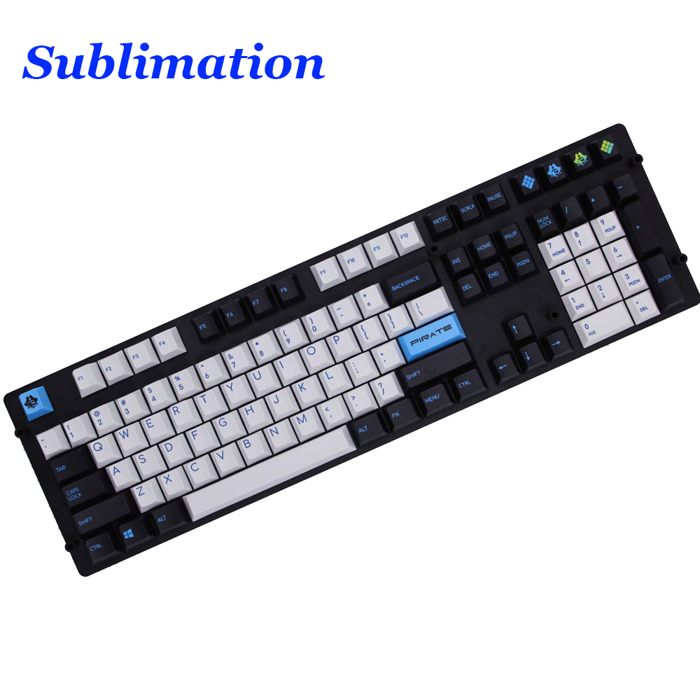 MP 126 Keys Pirates of the Caribbean PBT Keycap Sublimation Cherry Factory Height For Mechanical Gaming Keyboard mp 110 keys pbt sublimation keycap cherry profile original height keycap for mechanical keyboard