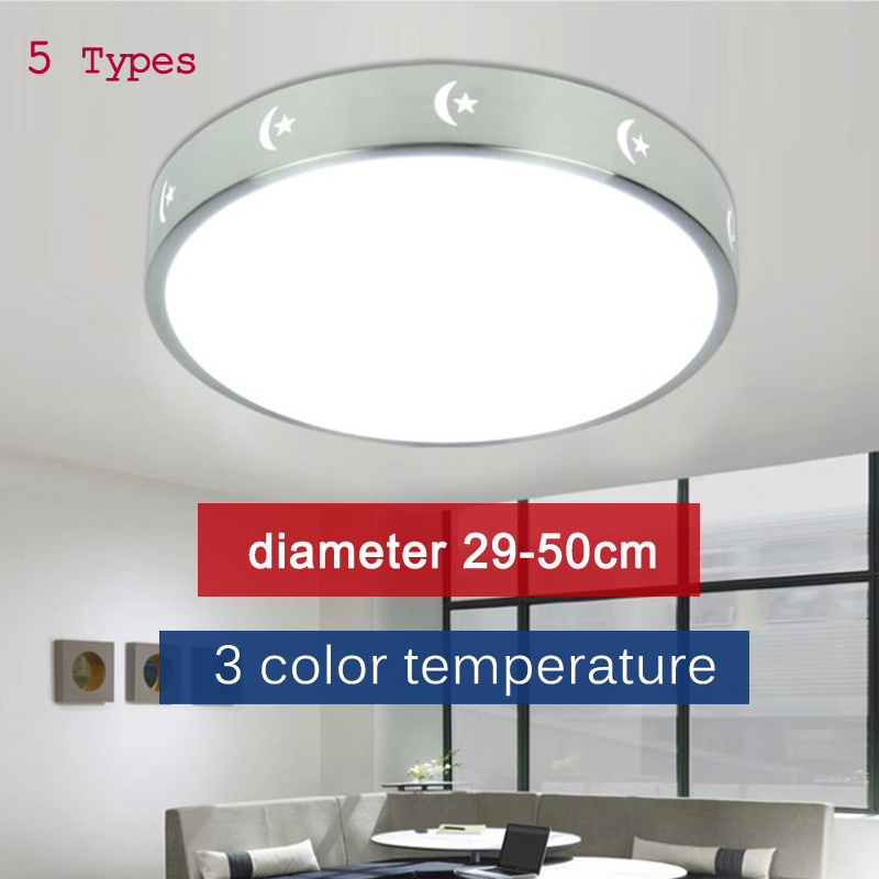 12 24 36 48 72W AC220v adjustable energy conservation LED Ceiling Lights In Round Shape lamparas Lighting Fixtures platfond lamp