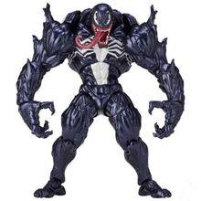 Anime Spider-man Figura Revoltech Series No. 003 Venom Spiderman Ação PVC Figuras Colecionáveis Modelo Crianças Brinquedos Boneca 18 cm